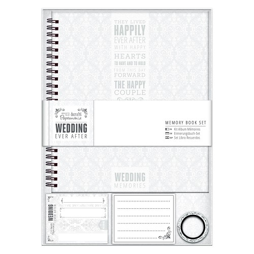 Memory Book - Wedding - Grey/White