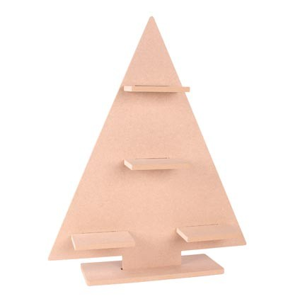 Pronty - MDF Kerstboom - 377x460x100mm / 9mm dik