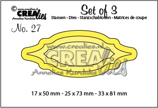 Stansmal - Crealies - Set of 3 - no 27 labels