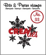 Clearstamp Crealies - Bits & Pieces - No 33 Snowflake