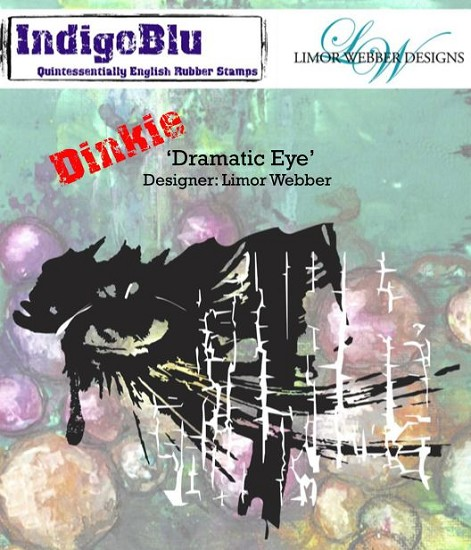 IndigoBlu - Rubber Stamp - A7 Dinky Dramatic Eye