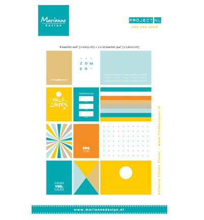 Marianne Design - Project NL - Card Set - Zon, Zee en Strand