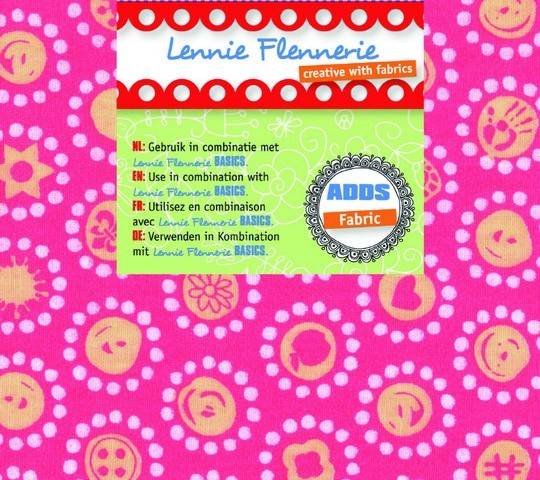 Lennie Flennerie - Adds - Fabric Crazy Dots 50x70 cm