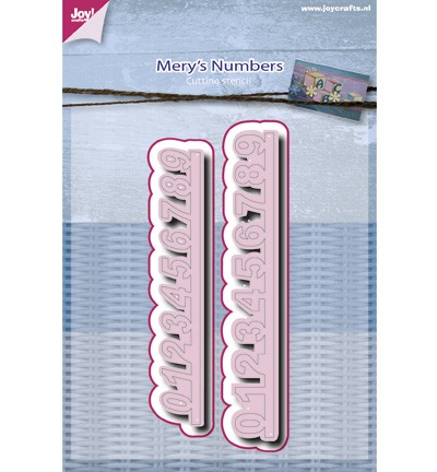 Joy! Crafts - Cutting & Embossing stencil - Mery`s - Numbers
