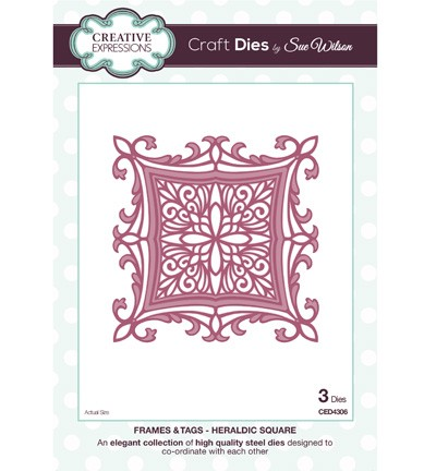 Stansmal - Creative Expressions - The Frame & Tags Collection - Heraldic Square