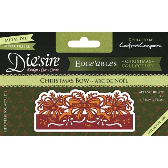 Stansmal Die`sire - Edge`ables - Xmas - Christmas Bow