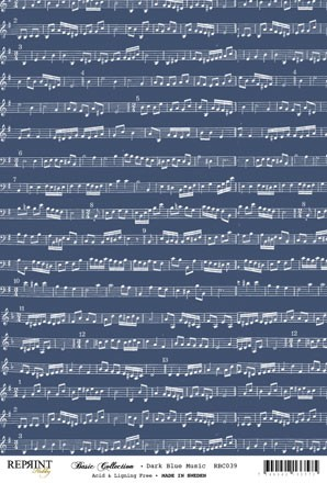 Reprint - Basic Collection A4 - Dark Blue - Music