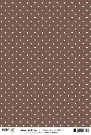 Reprint - Basic Collection A4 - Brown - Hearts