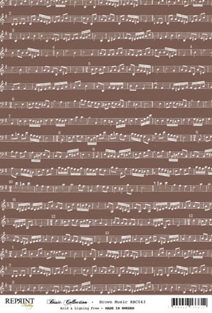Reprint - Basic Collection A4 - Brown - Music