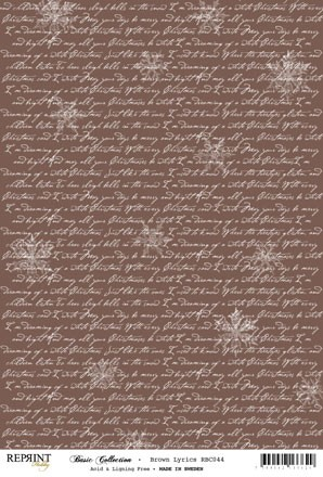 Reprint - Basic Collection A4 - Brown - Lyrics
