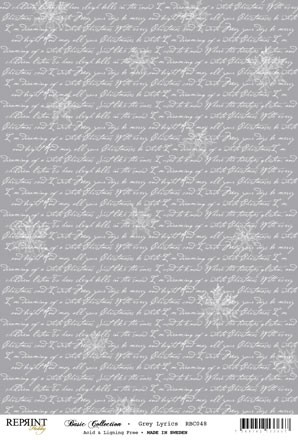 Reprint - Basic Collection A4 - Grey - Lyrics