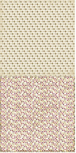Reprint - Scrappapier - Merry & Bright - Beige Rhombs