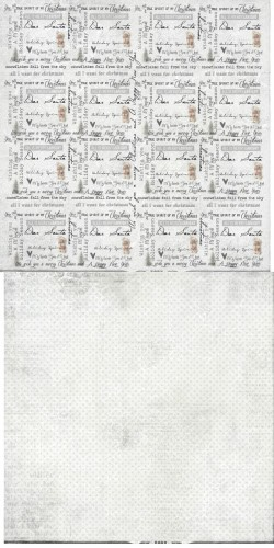 Reprint - Scrappapier - Merry & Bright - Text Collage Paper