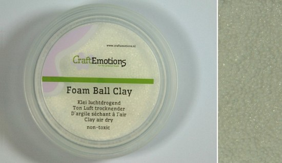 CraftEmotions - Foamball clay - luchtdrogende klei - wit