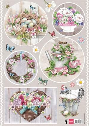 Knipvel Marianne Design - Country Style Flowers