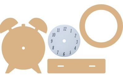 Dutch Doobadoo - Dutch MDF Art - Clock (4delig)
