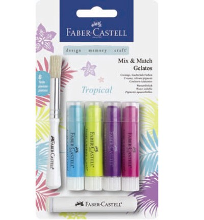 Faber Castell - Gelatos - Aquarelkrijt set Tropical