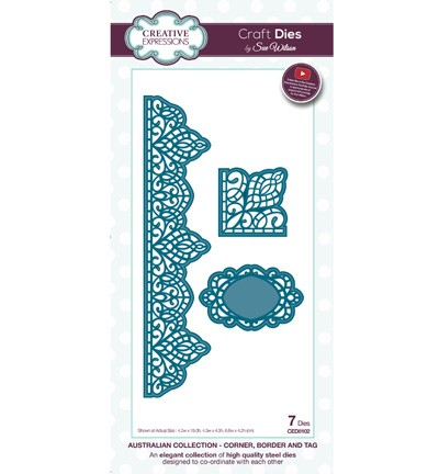 Stansmal Creative Expressions - Craft Dies - Corner, Border & Tag Australian
