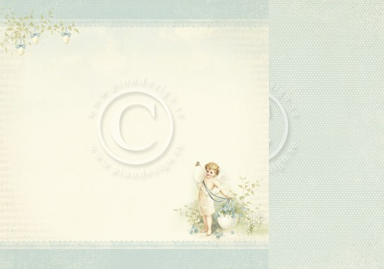 Scrappapier PION Design - Easter Greetings - Angel of Spring
