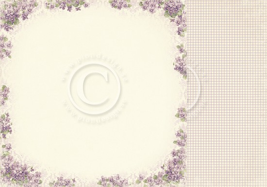 Scrappapier PION Design - Easter Greetings - Violet
