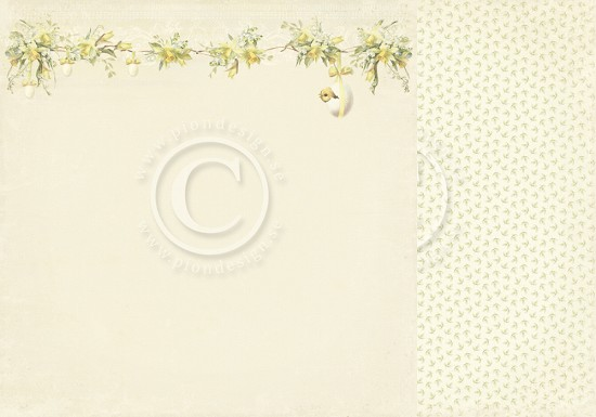 Scrappapier PION Design - Easter Greetings - Daffodil
