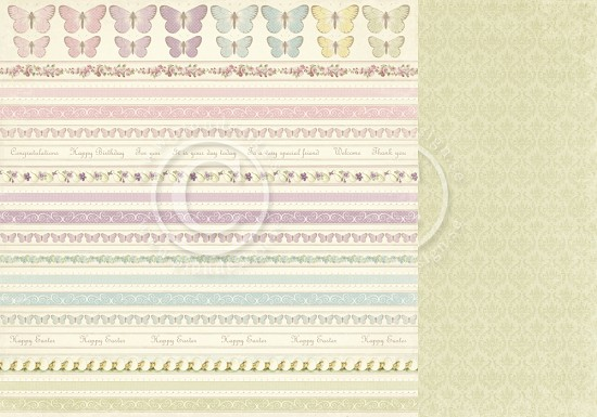 Scrappapier PION Design - Easter Greetings - Borders