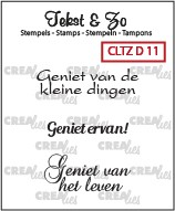 Clearstamp Crealies - Tekst & Zo - Divers 11