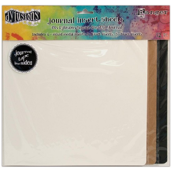 Dyan Reaveley`s - Dylusions Journal -  Inserts Assortment 12/Pkg - Square