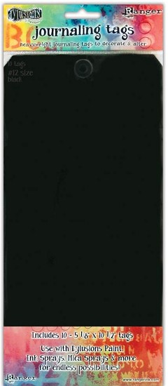 Dyan Reaveley`s - Dylusions Journal -  Journal Tags Black #12""