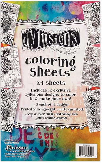 "Dyan Reaveley`s - Dylusions - Colouring Sheets - 5"" x 8"""