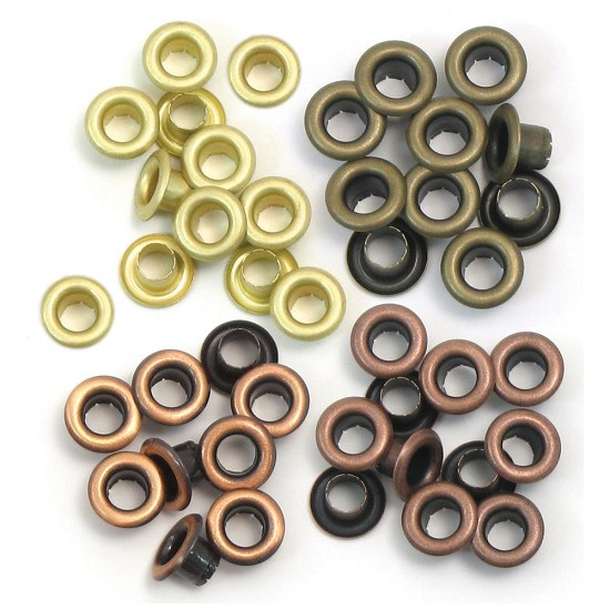 We R Memory Keepers - Eyelets Standard - Warm Metal