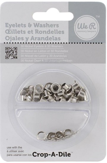 We R Memory Keepers - Eyelets & Washers - Nickel