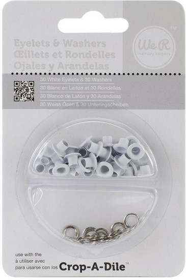 We R Memory Keepers - Eyelets & Washers - White