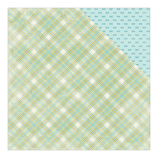 Scrappapier Authentique - Cuddle Boy - Madras Plaid/Small Bow Ties