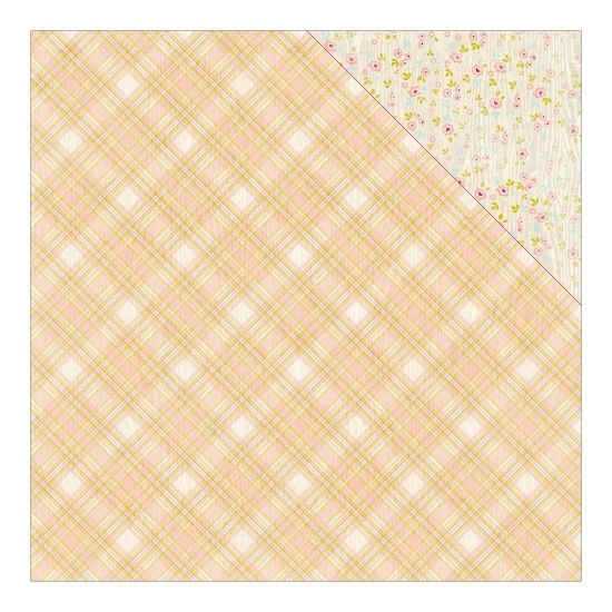 Scrappapier Authentique - Cuddle Girl -  Madras Plaid/Petite Floral