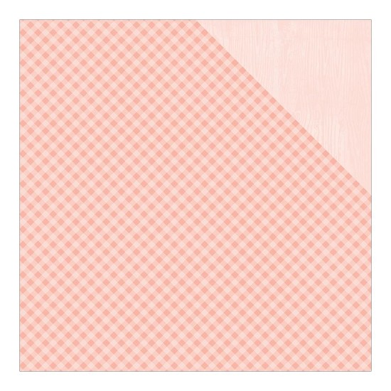 Scrappapier Authentique - Cuddle Girl - Foundations #1 Gingham/Light Pink Solid