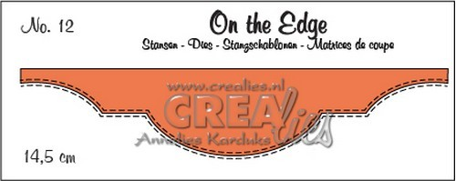 Stansmal - Crealies On the edge stans no 12 CLOTE012 / 14,5 cm