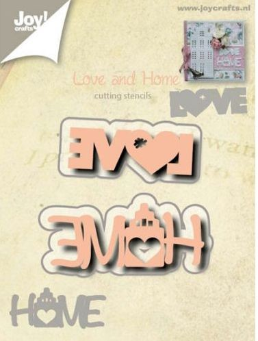 Joy! Crafts - Cutting & Embossing stencil - Teksten Love/Home