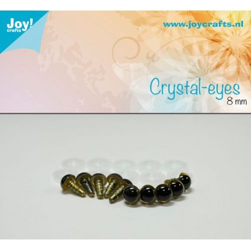 Joy! Crafts - Kristal ogen - Beige 8mm