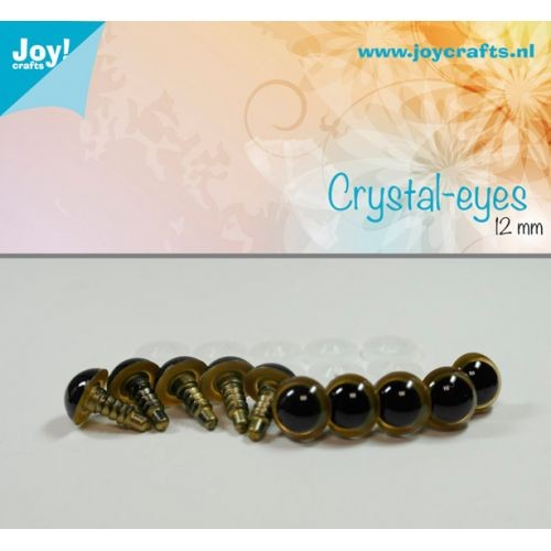 Joy! Crafts - Kristal ogen - Beige 12mm