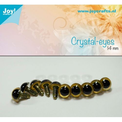 Joy! Crafts - Kristal ogen - Beige 14mm