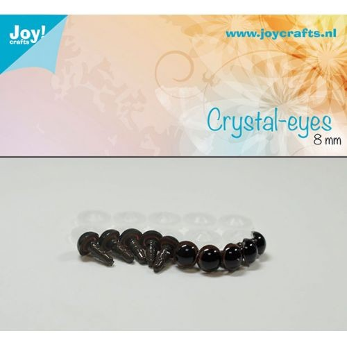 Joy! Crafts - Kristal ogen - Bruin 8mm
