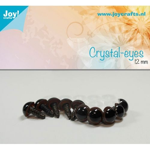 Joy! Crafts - Kristal ogen - Bruin 12mm