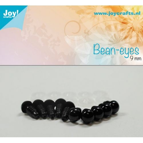Joy! Crafts - Bean eyes - zwart 9mm