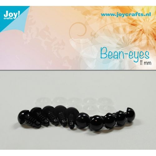 Joy! Crafts - Bean eyes - zwart 11mm