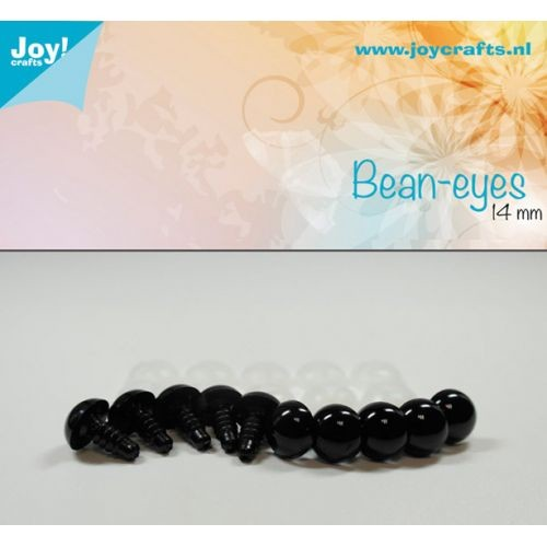 Joy! Crafts - Bean eyes - zwart 14mm