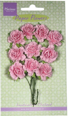 Marianne Design - Paper Flowers - Carnations Light Pink