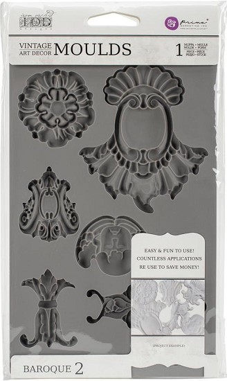 Prima Marketing - Vintage Art Decor Moulds - Baroque 2