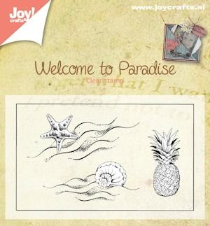 Joy! Crafts - Clearstamp - Welcome to Paradise klein