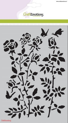 CraftEmotions - Mask Stencil - Botanical Rose Garden A5